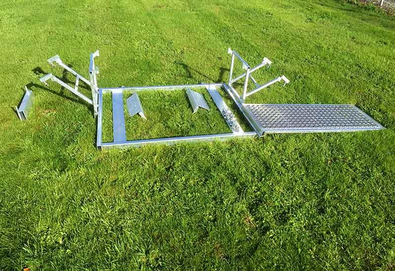 Dismantled equipment